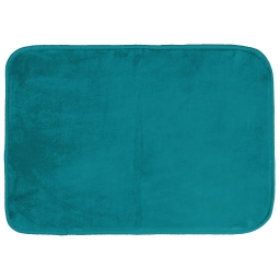 Tapis rectangle 120 x 170 cm velours uni louna Bleu lagon