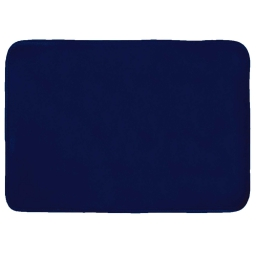 Tapis rectangle 120 x 170 cm velours uni louna Bleu nuit