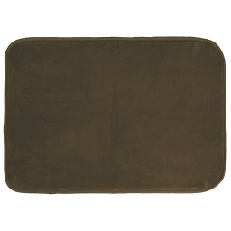 Tapis rectangle 120 x 170 cm velours uni louna Choco