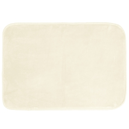 Tapis rectangle 120 x 170 cm velours uni louna Naturel