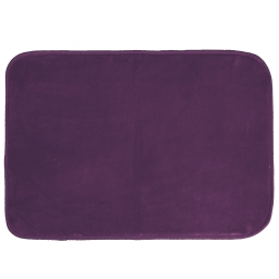 Tapis rectangle 120 x 170 cm velours uni louna Prune