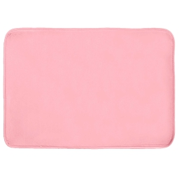 Tapis rectangle 120 x 170 cm velours uni louna Rose pale
