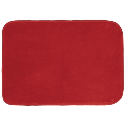 Tapis rectangle 120 x 170 cm velours uni louna Rouge