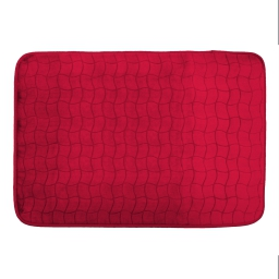 Tapis rectangle 120 x 170 cm velours uni tomette Rouge