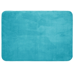 Tapis rectangle 120 x 170 cm velours uni zigga Bleu