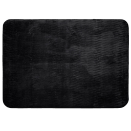 Tapis rectangle 120 x 170 cm velours uni zigga Noir