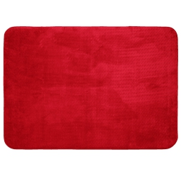 Tapis rectangle 120 x 170 cm velours uni zigga Rouge