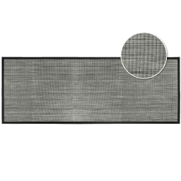 Tapis rectangle 45 x 120 cm pvc tisse tonio Noir