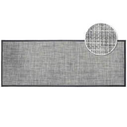 Tapis rectangle 45 x 120 cm pvc tisse verso Gris