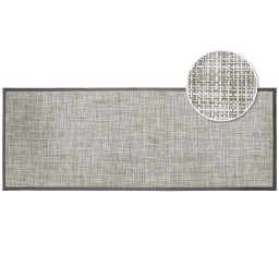 Tapis rectangle 45 x 120 cm pvc tisse verso Taupe