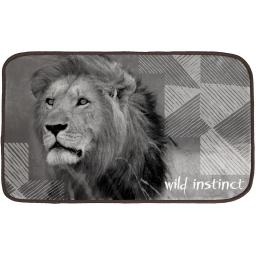tapis rectangle 45 x 75 cm velours imprime lion
