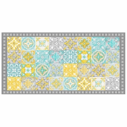 Tapis rectangle 50 x 100 cm vinyle alicante Jaune