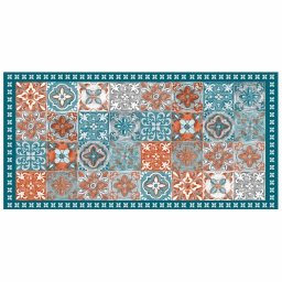 Tapis rectangle 50 x 100 cm vinyle alicante Orange