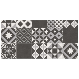Tapis rectangle 50 x 100 cm vinyle marbella Noir