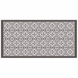 Tapis rectangle 50 x 100 cm vinyle vittoria Taupe