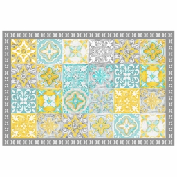 Tapis rectangle 50 x 75 cm vinyle alicante Jaune