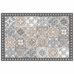Tapis rectangle 50 x 75 cm vinyle alicante Naturel