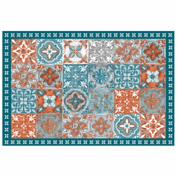 Tapis rectangle 50 x 75 cm vinyle alicante Orange