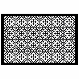 Tapis rectangle 50 x 75 cm vinyle vittoria Noir