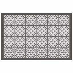 Tapis rectangle 50 x 75 cm vinyle vittoria Taupe