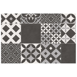 Tapis rectangle 50 x 75 vinyle marbella Noir