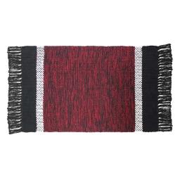 Tapis rectangle 50 x 80 cm coton jacquard cuzco Rouge