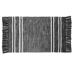 Tapis rectangle 50 x 80 cm coton jacquard matcho Gris