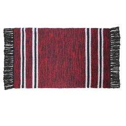 Tapis rectangle 50 x 80 cm coton jacquard matcho Rouge