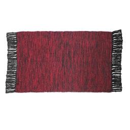 Tapis rectangle 50 x 80 cm coton jacquard pitcho Rouge