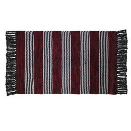Tapis rectangle 50 x 80 cm coton jacquard sancho Rouge
