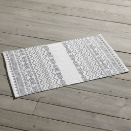 Tapis rectangle 50 x 80 cm imprime lacanau Gris