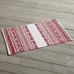 Tapis rectangle 50 x 80 cm imprime lacanau Rouge