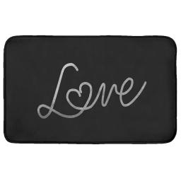 Tapis rectangle 50 x 80 cm velours imprime star love Argent