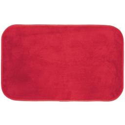 Tapis rectangle 50 x 80 cm velours uni kalina Rouge