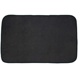 Tapis rectangle 50 x 80 cm velours uni kendo Noir/Noir