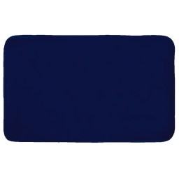 Tapis rectangle 50 x 80 cm velours uni louna Bleu nuit
