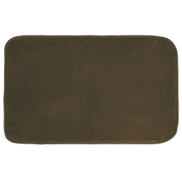 Tapis rectangle 50 x 80 cm velours uni louna Choco