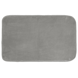 Tapis rectangle 50 x 80 cm velours uni louna Gris