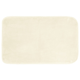 Tapis rectangle 50 x 80 cm velours uni louna Naturel