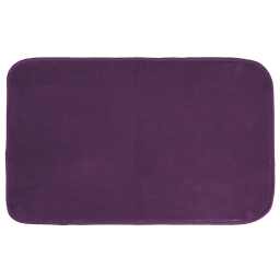 Tapis rectangle 50 x 80 cm velours uni louna Prune