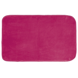 Tapis rectangle 50 x 80 cm velours uni louna Rose