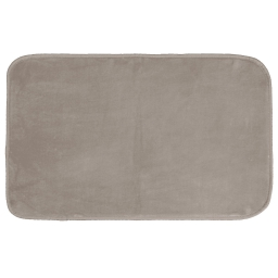 Tapis rectangle 50 x 80 cm velours uni louna Taupe