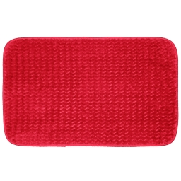 Tapis rectangle 50 x 80 cm velours uni zigga Rouge