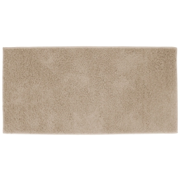 Tapis rectangle 57 x 115 cm tisse uni twist Beige