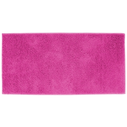 Tapis rectangle 57 x 115 cm tisse uni twist Fuchsia