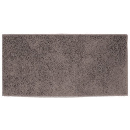 Tapis rectangle 57 x 115 cm tisse uni twist Gris