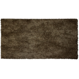 Tapis rectangle 60 x 115 cm tisse uni palace Choco