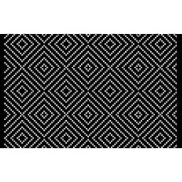 tapis rectangle 80 x 120 cm coton jacquard talisca