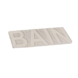 """tapis relief """"bain"""" uni taupe 45x75cm - douceur d'interieur theme vitamine"""