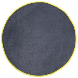 Tapis rond (0) 90 cm velours uni kendo Anthracite/Jaune